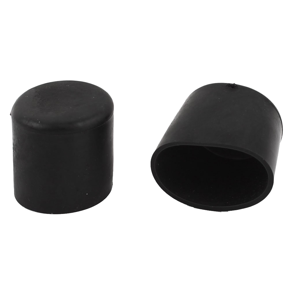 Hot Sale 2 Pcs Rubber Round Furniture Foot Cover Protector 28mm Inner Dia Black hot sale 5pcs pvc soft leg foot covers holder protector 60mm inner dia black