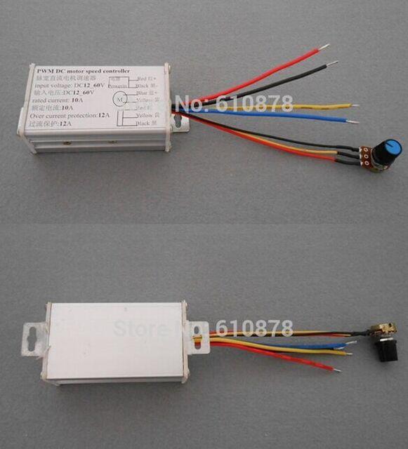 Aluminiumlegierung 12A PWM DC 10 V 24 V 24 V 60 V 600 Watt Positiv ...