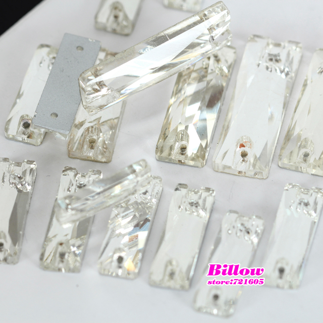 Cosmic Baguette Glass Sew On Rhinestone Crystal Clear Rectangle Flatback  Sewing Buttons For Wedding Dress B1125 a6053a5ca4d6