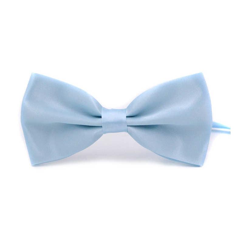الصلبة الألوان ربطة العنق من القوس الأنيق للرجال ربطة العنق سهرة الكلاسيكية بلون حفل زفاف أحمر أسود أبيض أخضر فراشة Cravat