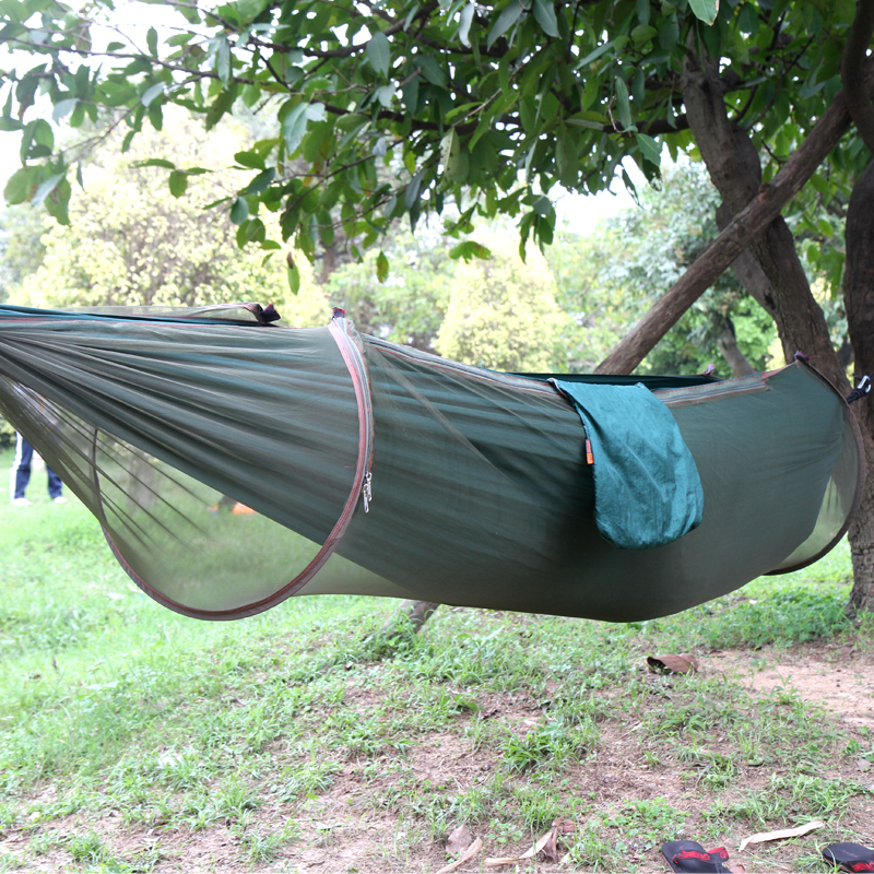 portable high strength parachute fabric camping hammock hanging bed with mosquito   sleeping hammock in camping mat from sports  u0026 entertainment on     2018 new  portable high strength parachute fabric camping hammock      rh   aliexpress