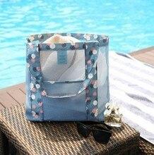 Women Storage Bags Mesh Shower Caddy Tote Wash Bag Dorm Bathroom Caddy Organizer with Basket Pockets Package Swim Bag