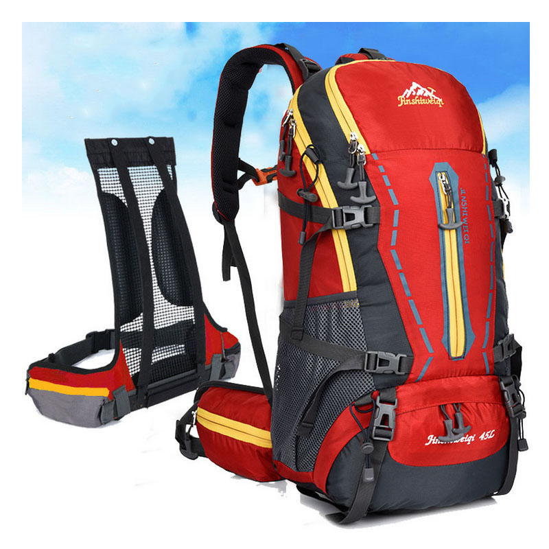 Prix pour Modèles masculins et féminins en plein air escalade échafaudage suspension paquet voyage sac à dos 45L randonnée sport