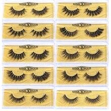 MB 2020 100% Mink lashes Hair 3D False Eyelashes Natural Thick Long Fake Eye Lashes Wispy Makeup Beauty Extension Tools A01-40