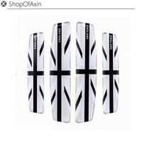 Anti Rub Exterior Car Side Door Edge Protection Trim Sticker 4pcs Universal Blackandwhite Union Jack UK