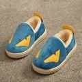 Для детей тапочки мальчики обувь для девочек милый мультфильм монстр теплого хлопка обувь детей мягкой подошвой девушки тапочки мальчики non-slip теплые тапочки