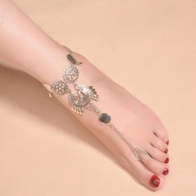 Bohemia tassel lady barefoot wearing sandals anklets woman favorite jewelry the best gift anklet