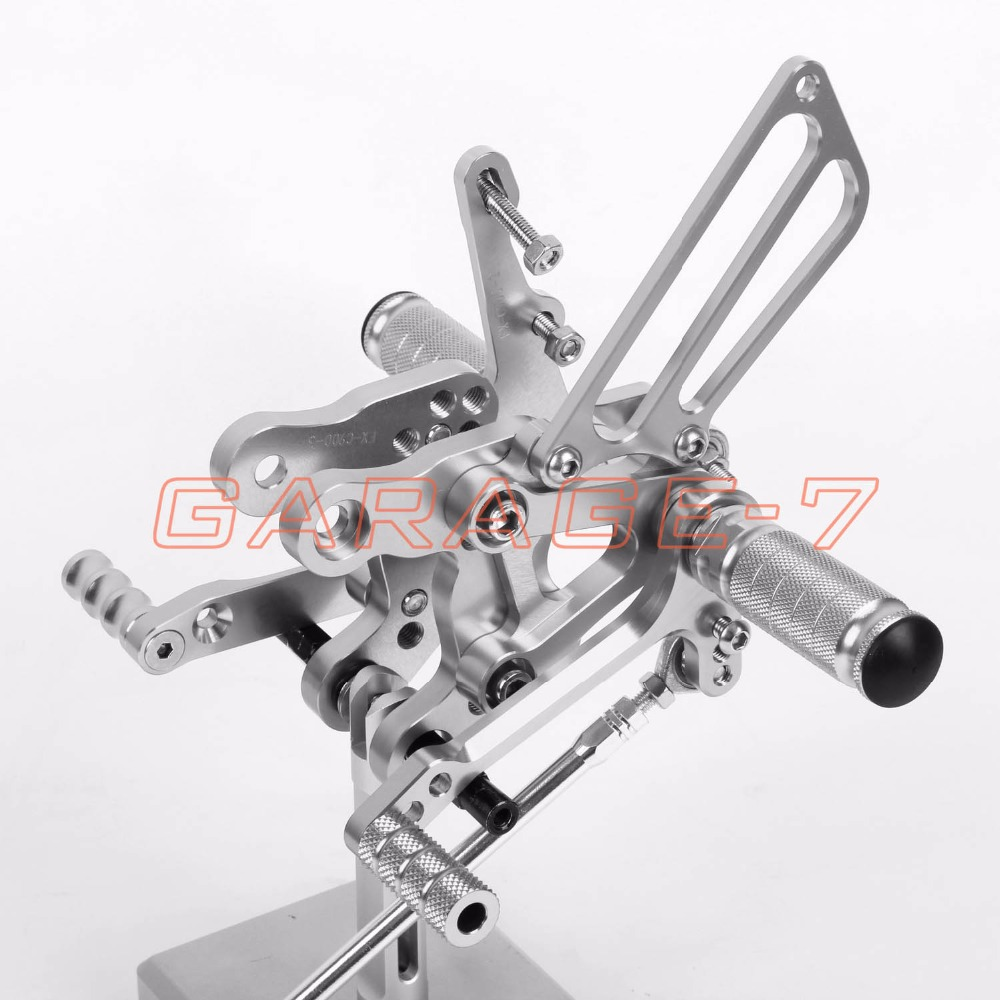 CNC Rearsets Adjustable Foot Rests Rear Set Silver For HONDA CBR900RR 893cc NC28 1992-1995 1993 1994 Motorcycle Foot Pegs