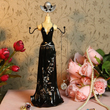 Tube Top Dresses Jewelry Rack Key Holder Nail Hanger Jewelry Organizer Shelf Display Racks