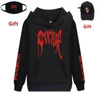 Rip XXXTentacion Revenge hoodies sweatshirt men women hip hop Rapper DJ dancer tracksuits coat hooded jacket