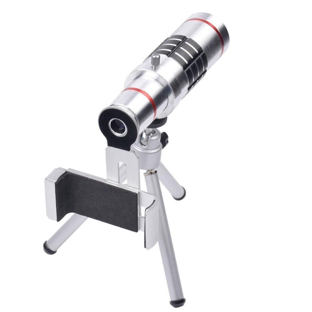 KRY 18x lentes Universal Zoom Camera Phone Lens Optical Telescope Telephoto Lenses Tripod For iPhone 5s lens 6 6s 7 Plus Lens 9