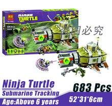 Bela 10265 Ninja Tortoise Mutant Era Submarine Track Minifigures Building Block Minifigure Toys Best Toys