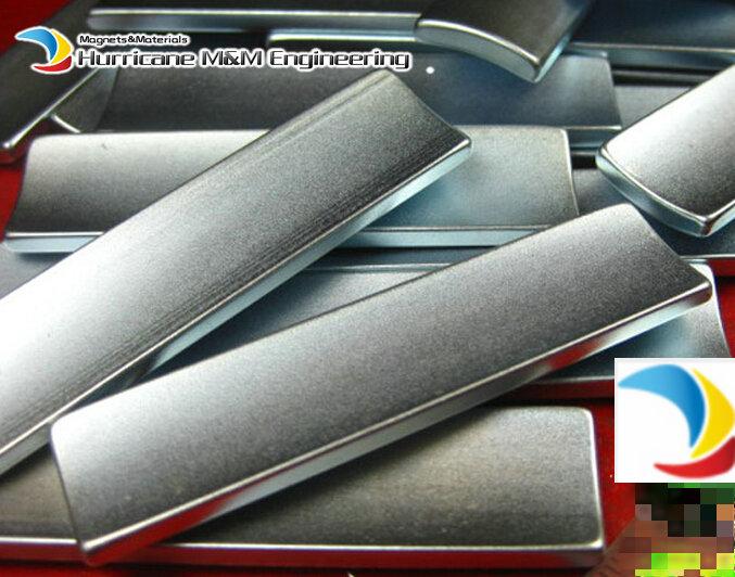 Фото 6pcs NdFeB Arc Segment R23.25xL68xW17xT3.5 mm N35SH Diametrically Moto magnet for generators wind turbine Neodymium Rotor Magnet