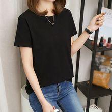 High Quality T Shirt Women Fashion Solid T-shirts Female Summer Casual Tops O-Neck Short Sleeve T-shirt Korean Women Clothing цены