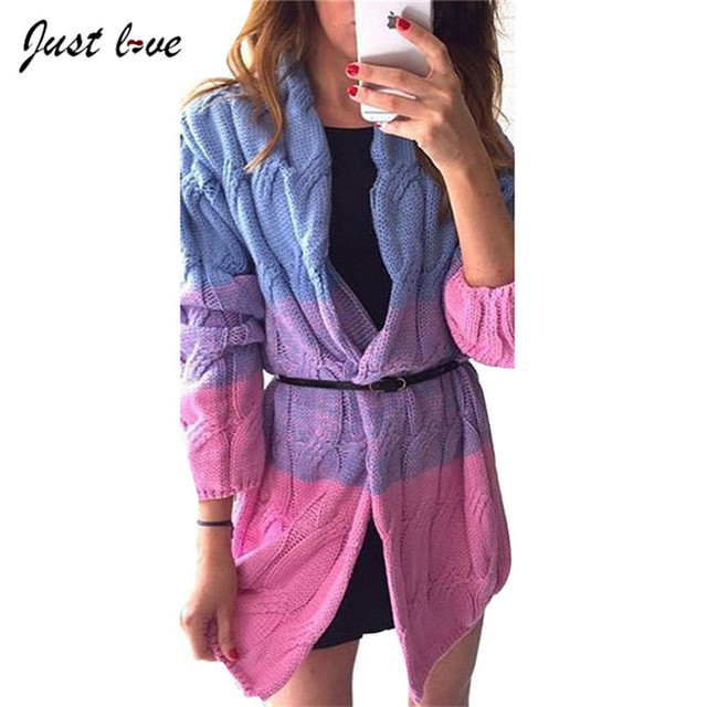 2017 Women Long Contrast Color Sweater Spring Autumn Women Sweater Cardigan Patchwork Long Thicken Colorful Shiny Coat Plus Size