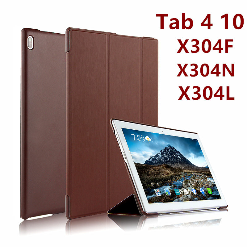 For Lenovo Tab 4 10 Case Cover Tab410 Protective Protector Smart Thin Leather PU TB-X304L X304 N F X304L Tablet PC Case 10.1inch ultra thin smart flip pu leather cover for lenovo tab 2 a10 30 70f x30f x30m 10 1 tablet case screen protector stylus pen