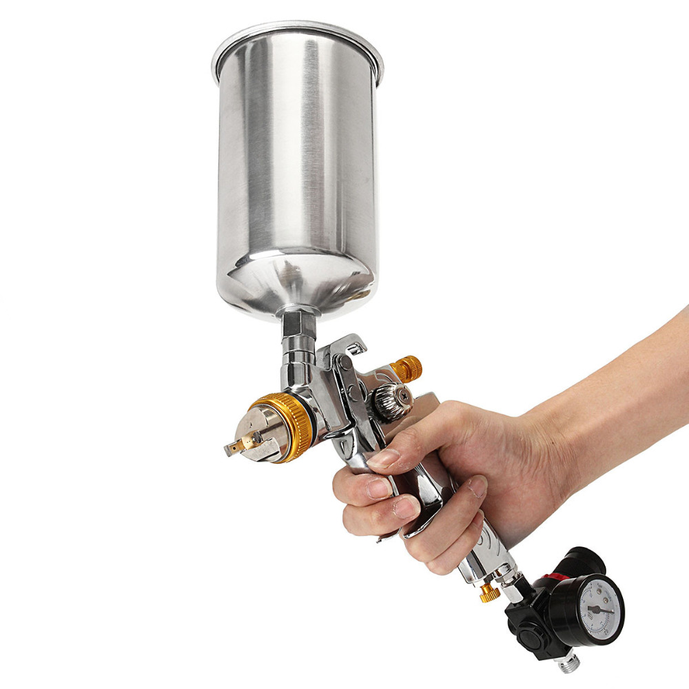 Подробнее о New Hot High Quality Gravity Feed HVLP Paint Spray Gun Set with 1.4mm nozzle  Lowest Price new 4000b professional gravity spray gun with 1 3mm nozzle hvlp car paint gun painted high efficiency high quality