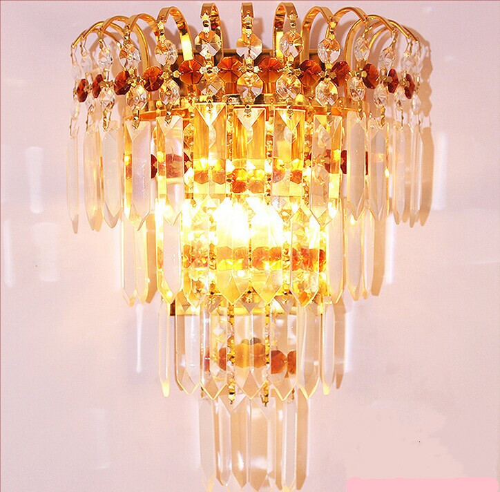 ФОТО Free shipping  Luxury k9 crystal wall lamp for stair lamp,sitting room lamp crystal glass prism lamp