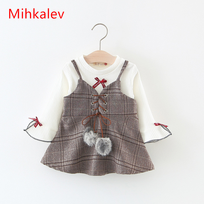 Mihkalev Wholesale 2018 Spring Todder baby girl clothing set t shirt and dress kids girls clothes suits (1 dozen include 4 sets) retail 2017 new kids girls clothing set cartoon t shirt dress cotton baby girls suits set fashion children girl clothes