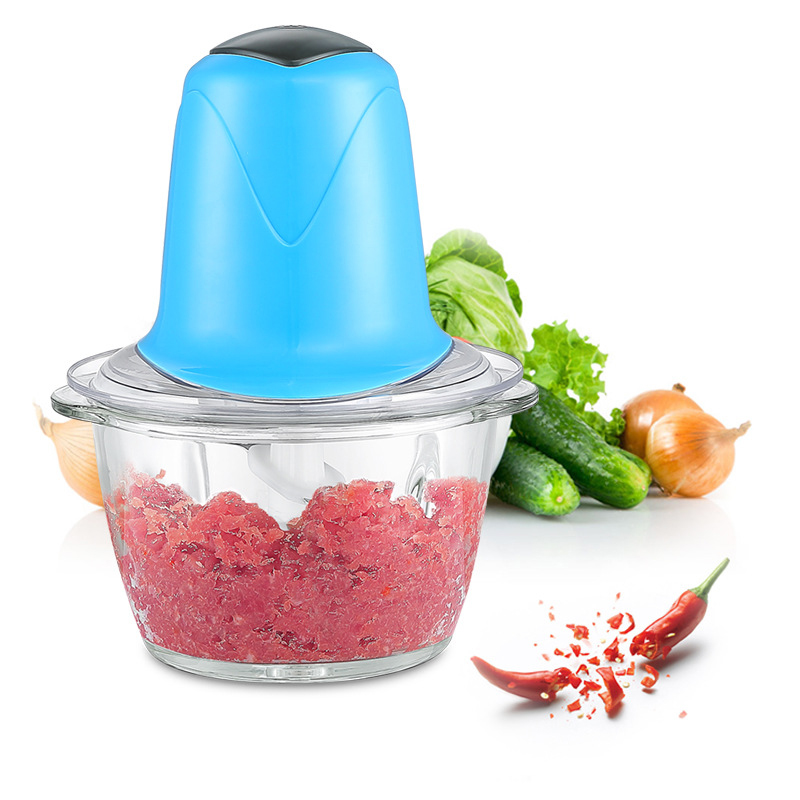 Multi-function Kitchen Electric Food Processor Household Meat Grinder Vegetable Chopper Quick Shredder Green Cutter Egg Blender household 2l electric kitchen chopper shredder food chopper meat grinder stainless steel electric processor kitchen tool cocina
