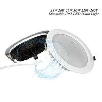 De alta calidad ultra brillo SMD 5730 impermeable ip65 led downlight redondo 18 W 20 W 30 W 40 w