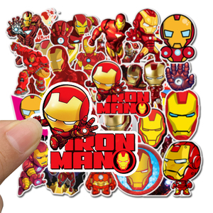 Image 3 - 35Pcs/pack Iron Man Graffiti Stickers Marvel For laptop Mouse Motorcycle Skateboard Guitar luggage Cute Style Stickers