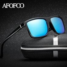 AFOFOO New Men's Square Polarized Sunglasses Brand Design Men Driving Sun glasses Male UV400 Shades Goggle Eyewear