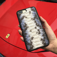 Luxury Genuine Leather Phone Case For Iphone 7 6S Plus SE Real Python Skin Design Style