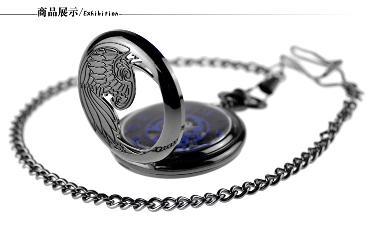 automático relógio masculino relógio feminino vintage mão vento colar pingente saat