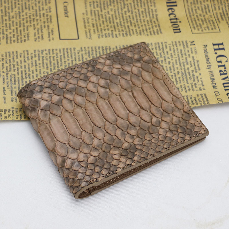 100% Real Exotic Snake Python Skin Wallet Women Short Genuine Python Leather Wallet Luxury Mixed Color Male Purses Money Clip