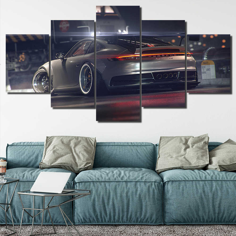 Canvas HD Prints Pictures Frameless 5 Pieces Porsche 911 GT3 Car Paintings Home Wall Art Decor Posters 30x40 30x60 30x80cm