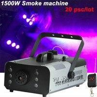 20pcs/lotHigh quality 1500W constant temperature fog machine pump disco remote control smoke machine stage Lampblack machine
