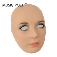 MUSIC POET silicone female mask for male to shemale crossdressing men cosplay Silicone Realist mask