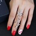 Jeweast 925 anillos de plata esterlina anillos en forma de flor llena del partido accesorios de moda de estilo estilo largo mujeres anillos de la joyería para las mujeres