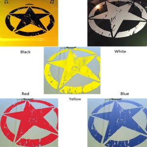 "Image 2 - New Army Star Distressed Decal Large 16"" Approx Vinyl Military Hood Graphic Body 40CM Sticker Fits For Jeep Fashion Cool#274981"