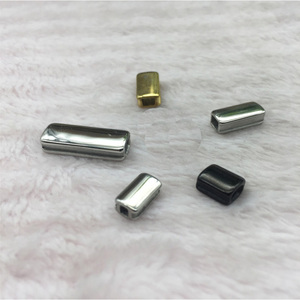 Image 3 - Wholesale Custom Logo Charm steel Polish Mirror Surface Bar Tube Spacer Beads For Jewelry Making 50pcs/lot