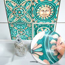 Hot Promotion Italy Majolica Tiles Wall Sticker Kitchen Bathroom Wall Mural Decals Wallpaper Art Home Living Room Decor Supply