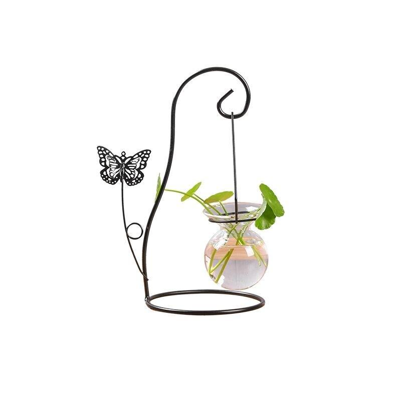 Творческий Бабочка воды посадки Стекло ваза цветочный горшок сеялки гидропоники завода Террариум контейнер Офис рабочего декор