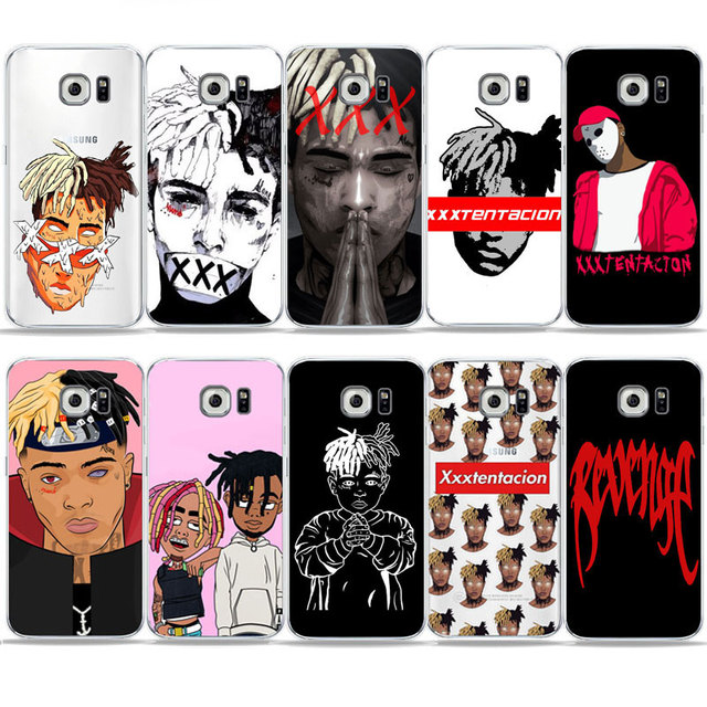 rappers xxxtentacion cartoon lil pump wallpaper phone case for