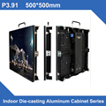 4pcs a lot indoor P3.91led screen wall 500x500mm 2121smd full color rental led video wall with 1pcs road case
