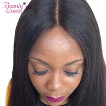 Натуральная волос бразильский Прямо Синтетические волосы на кружеве 4*4 с волосы младенца коричневый незначительные отбеленные узлы человека Швейцарский Кружева Красота lueen