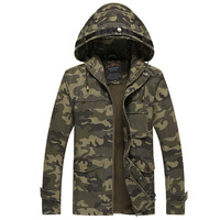 YuWaiJiaRen Spring Autumn Hooded Jacket Men Camouflage Flight Military Pilot Bomber Air Force One Men S