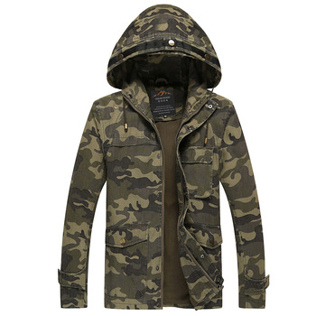 YuWaiJiaRen Spring Autumn Hooded Jacket Men Camouflage Flight Military Pilot Bomber Air Force One Men's Windbreaker Coat