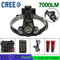 z50 on sale LED Headlight 7000LM Cree XM-L T6 Frontale LED Headlamp Head Lamp Bike Light Lamp 2*18650 battery usb charger box