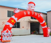 free fans 10mW outdoor christmas snata inflatable arch for decoration holiday events