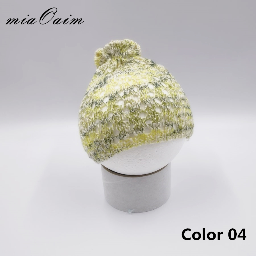 Infant knitted Hats Caps Cute baby Girls Bonnet Newborn Baby Photography Props Girl Beanie Hats Accessories Shower Gift