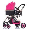 Luz cochecito de bebé carro cochecito de bebé plegable de cuatro ruedas de coche de bebé
