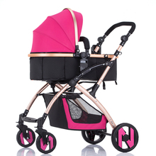 baby stroller trolley baby stroller four wheel folding light baby car