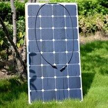 Prix usine 18 V 100 W Souple Flexible Sunpower Panneau Solaire Pour 12 V Batterie Mono Camping-Cars Bateaux Voitures Toit 100 W Chargeur Solaire