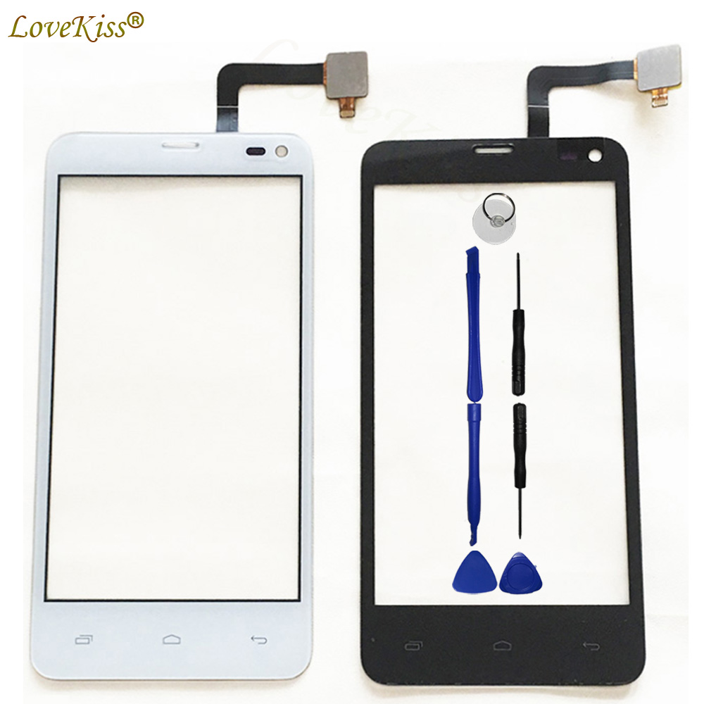 IQ4416 Front Panel For Fly Era Life 5 IQ 4416 IQ4416 Touch Screen Sensor LCD Display Digitizer Glass Cover TP Replacement Tools